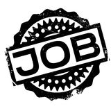 Job rubber stamp Royalty Free Stock Photography
