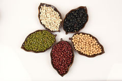 Job's tears, Soy beans, Red beans, black beans, Peanut, pine nut, Almond and green beans . Royalty Free Stock Images