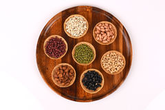 Job's tears, Soy beans, Red beans, black beans, Peanut,pinenut  and green beans Royalty Free Stock Images