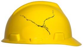 Job Safety, Schutzhelm, lokalisiert Lizenzfreies Stockfoto