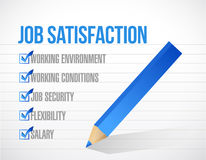 Job satisfaction check mark illustration design Royalty Free Stock Images