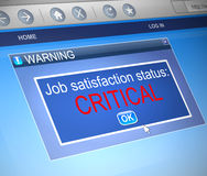 Job satisfaction concept. Royalty Free Stock Images