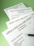 Fill out job applications Stock Photography