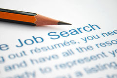 Job search. Close up of job application - search Stock Photography