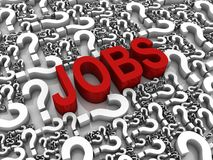 Job Search royalty free illustration