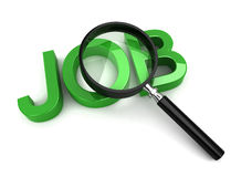 Job search. 3d render on white Stock Illustration