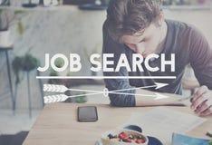 Job Search Application Career Work-Konzept Lizenzfreie Stockfotos