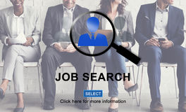 Job Search Application Hiring Profession Career Concept. Businesspeople sitting row job search application hiring Profession career stock photography