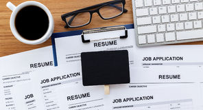 Job search with blank sign Royalty Free Stock Image