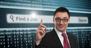 Job Search. Businessman and Job Search concept Royalty Free Stock Images