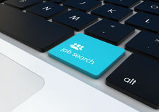 Job search button. On a keyboard Stock Images