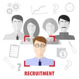 Job search and career choice. Recruiting agency. Stock Photo
