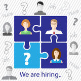 Job search and career choice. Recruitment team. Stock Photos
