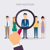 Job search and career. Human resources management and head hunte Royalty Free Stock Photography