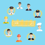 Job search and career. Human resources management Royalty Free Stock Images