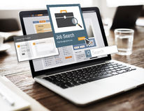 Job Search Career Recruitment Occupations-Karriere-Konzept Lizenzfreies Stockfoto