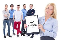 Job search concept - business people isolated on white stock photography