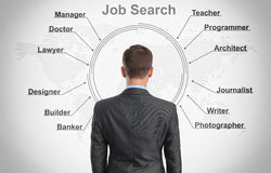 Job search concept Royalty Free Stock Images