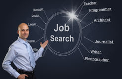 Job search concept Stock Image