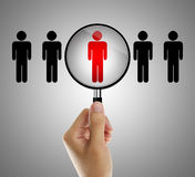 Job search concept. Find the right people for job concept Stock Photos