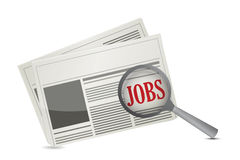 Job search concept on a newspaper Royalty Free Stock Photography