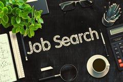 Job Search Concept sur le tableau noir rendu 3d Image libre de droits