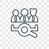 Job search concept vector linear icon isolated on transparent ba royalty free illustration