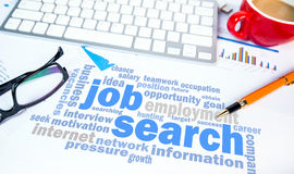 Job search concept word cloud chart Royalty Free Stock Image