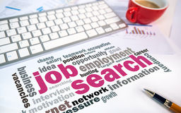 Job search concept word cloud chart Royalty Free Stock Photo