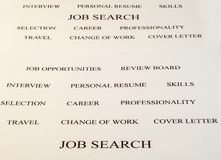 Job search Stock Photography
