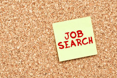Job search on Cork board with Note Paper Stock Photography