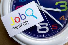 Job search form on speech Stock Photos