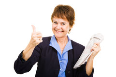 Job Search Going Well Stock Photo