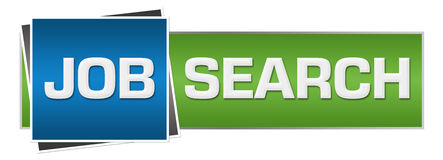 Job Search Green Blue Horizontal Photo stock