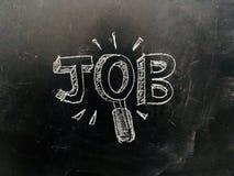 Job Search Handwritten sulla lavagna immagini stock