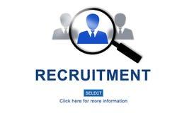 Job Search Hiring Website Word-Concept vector illustratie