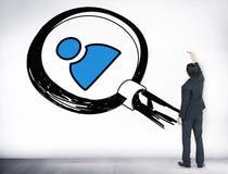 Job Search Human Resources Employees que busca concepto Imagenes de archivo