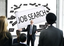 Job Search  Human Resources Employment Concept. Business Man Guiding Job Search  Human Resources Employment Stock Photography