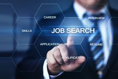 Job Search Human Resources Recruitment Career Business Internet Technology Concept Royalty Free Stock Images