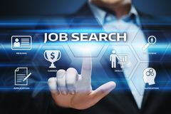 Job Search Human Resources Recruitment Career Business Internet Technology Concept Royalty Free Stock Photo