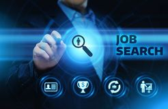 Job Search Human Resources Recruitment Career Business Internet Technology Concept.  stock photography