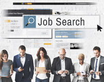 Job Search Human Resources Recruitment karriärbegrepp arkivbild