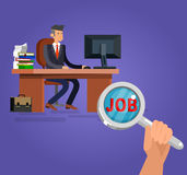 Job search and human resources. Vector flat illustration Stock Photo