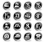 Job search icon set Stock Image