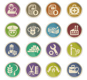 Job search icon set Royalty Free Stock Photos