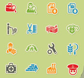Job search icon set Royalty Free Stock Images