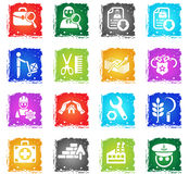 Job search icon set Royalty Free Stock Photo