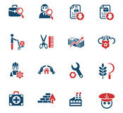 Job search icon set Stock Photo