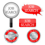 Job search icons Royalty Free Stock Photo
