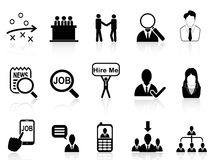 Job search icons set Stock Images